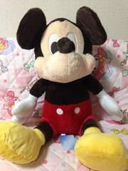 《特売》ミッキーマウス*ギガジャンボ 赤いほっぺ ぬいぐるみ*