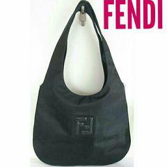 正規 FENDI ナイロン ショルダーバッグ 黒 レディース メンズ