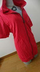 大きいサイズ半袖赤パーカー5L