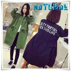 新作★大きいサイズ3L バクプリZIPジャケット*緑