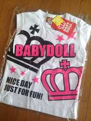 BABYDOLL ベビードール/ロゴ入ビビットカラーロンT 90 ベビド