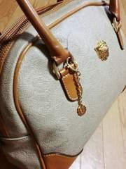 ニナリッチ/NINA RICCI ロゴリーフ柄革製ボストンバッグ