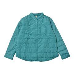 新品■3L大きいサイズ■中綿シャツジャケット■エメラルド