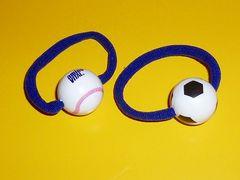 サッカー野球ボール型ペットボトルマーカーゴムストラップ部活アミノバイタルオマケ