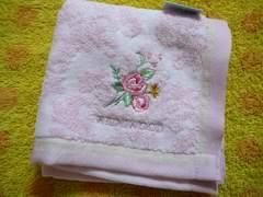 ウエッジウッドタオルハンカチ薔薇刺繍P