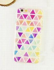 ◆新品◆iPhone8 ハードケース 幾何学 トライアングル柄