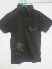 A-209★新品★半袖刺繍入りポロシャツ ブラック L