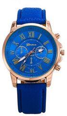 500均★休日お洒落に腕時計ブルー初期不良保証