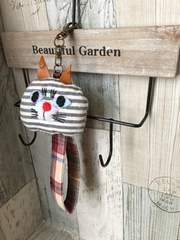 natural猫chanストラップ★ハンドメイド??