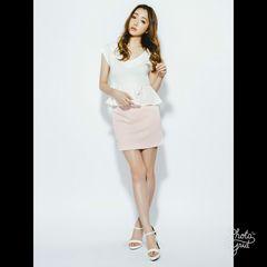 ★RESEXXY★シンプルカラースカート★ピンク