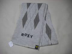om91 ROXY ロキシー ニットマフラー チェック柄 カーキ