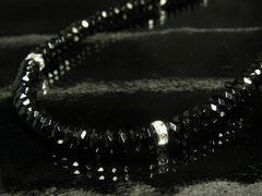 モテる!!ブラックスピネルX銀ロンデル数珠ネックレス☆
