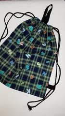 17 ◆ N ナップサック巾着 (^o^) 体操服入れ ハンドメイド
