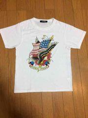 1111円スタート☆【超美品】エドハーディ Tシャツ 白 サイズS