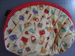 ハンドメイド 布製ポーチA 未使用 新品 マチあり