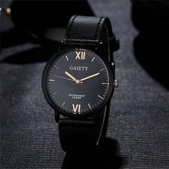 腕時計 ギリシャ文字 メンズ クォーツ腕時計 ウォッチ ブラック