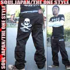 オラオラ/SOUL JAPAN/スカルデザイン刺繍パンツM