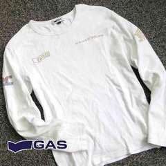 GAS ガス メンズ スパンコール 長袖ロンT V36