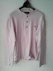 BURBERRY BLACKLABELピンク長袖ロングTシャツ2桃色ロンTバーバリー日本製即決