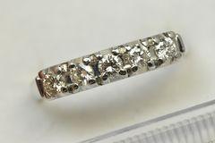 Pt900 プラチナ 0.31ct ダイヤモンドリング 10号 指輪