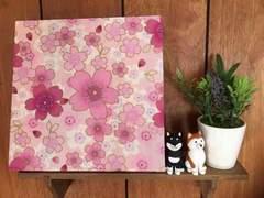 桜☆木製ファブリックパネル♪