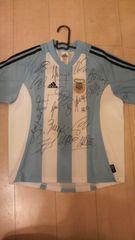 アルゼンチン代表 17選手 サインユニホーム