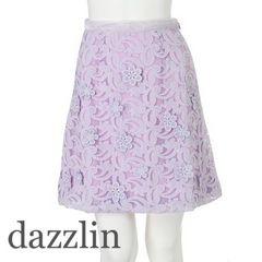 定価7,452【美品】dazzlin フラワーレースタイトスカート purple