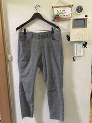 3L☆未使用グレンチェック9分丈パンツ