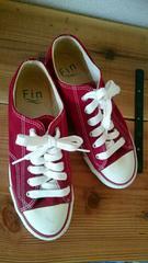 *Fin*フィン*スニーカー*靴*赤*レッド*24*