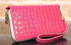 定形外無料 PloomTECHプルームテックケース クロコダイル調 コンパクト ピンク ワニ柄