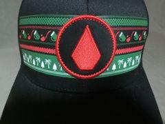 USA購入【VOLCOM】ボルコムストーンロゴ刺繍入りCAP黒