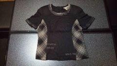 超美品 高級 Rossa ロッサ 半袖シャツ ブラウス  サイズ42 L 黒