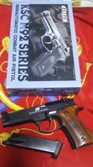 KSCM92シリーズエリートガスブローバック実銃木製グリップカスタム美品