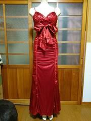 Ivy 赤 スパン キャミ ロングドレス