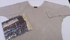goa  美品ラグランTシャツ&新品タグ付きストールのセット
