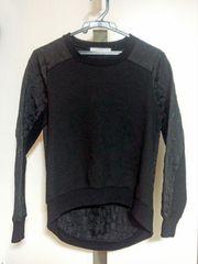 KBF★黒い長袖型押し変形トレーナー★アーバンリサーチスウェットプルオーバー