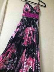 美品 カップ付 ロングドレス