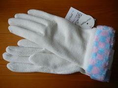 クレージュ手袋フリースマーク刺繍W
