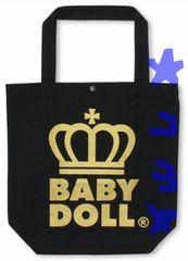 ベビードール 王冠ロゴトートバッグ プレミアムMサイズ縦型黒色