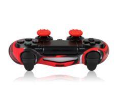 PS4対応用 コントローラー シリコンカバー(レッド)