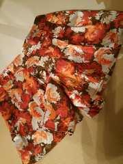 8000円品DEARFLURAサテンショートパンツキュロットスカート花柄