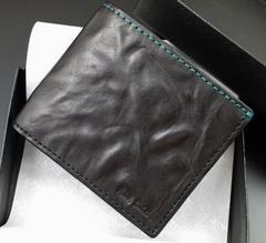 新品/箱付 ポールスミス クラッシュレザー 二つ折り財布 黒