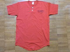 即決USA古着●ナンバリングロゴデザインTシャツ赤!アメカジビンテージ