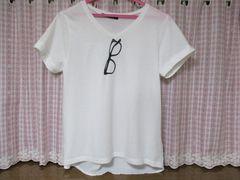 ページボーイ/PAGEBOY Tシャツ バック:シフォン地 タグあり美品!