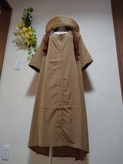 ★新品タグ6L★ドロップショルダーワンピ(定価6990円+税)