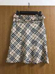 バーバリー ブルーレーベル スカート 36 ノバチェック