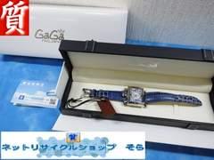 質屋★本物 ガガミラノ 腕時計 ナポレオーネ シェル文字盤 ボーイズ 美品