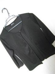Mサイズ♪七分袖黒カーデ♪ストーンボタン♪