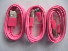 新品 iPhone 転送・充電ケーブル iPhone用 3本【ローズ】