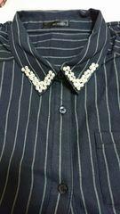 3L / ストライブシャツ